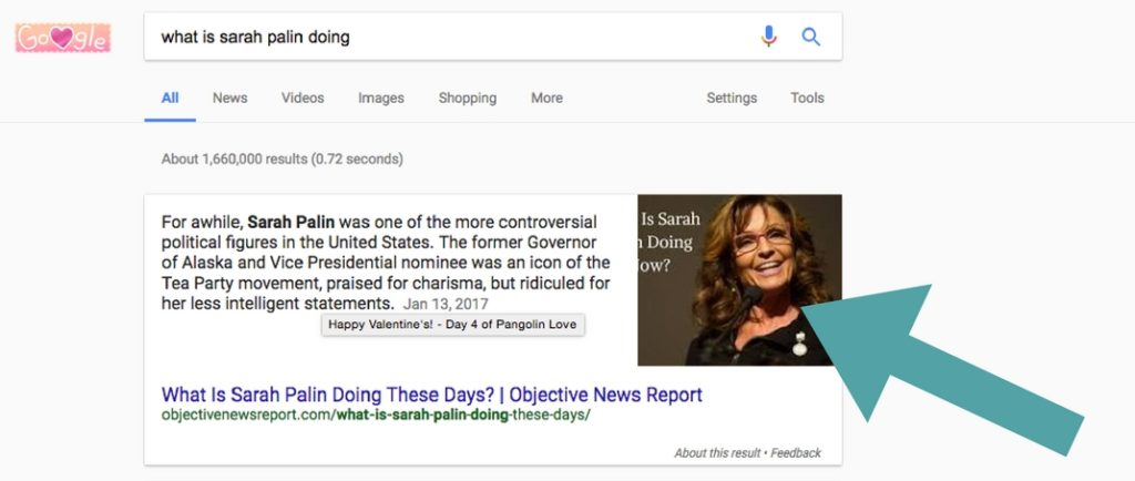 what is sarah palin doing now featured snippet